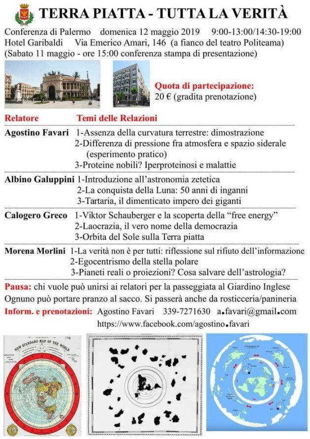 La locandina dell'evento in programma a Palermo il 12
