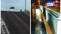 Italiano prova a saltare ponte levatoio russo in auto come nel film