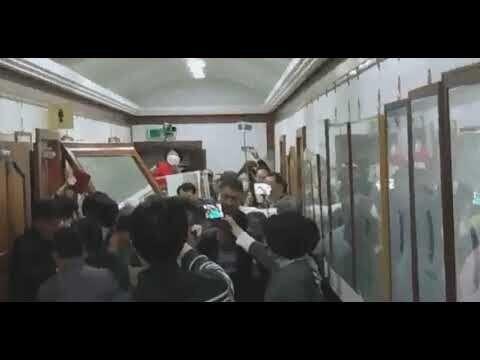 강남 대형교회에서 집단 폭력사태가