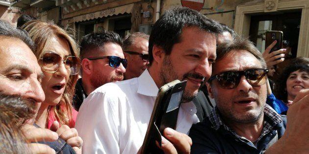 Matteo Salvini a Motta Sant'Anastasia