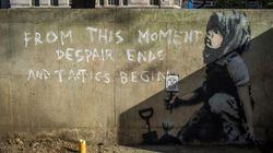 Banksy firma la protesta di Londra contro i cambiamenti climatici con un nuovo