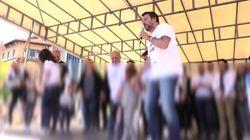 Salvini invita i bimbi sul palco: