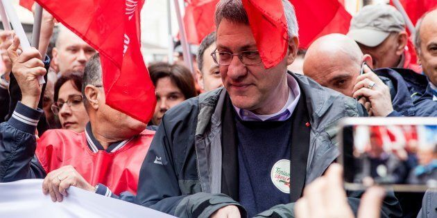 Maurizio Landini, Secretary General of the CGIL, during the Annual event to celebrate the anniversary...