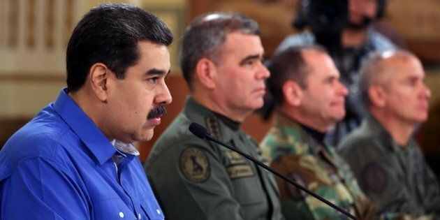 Maduro makes national address during protest, in