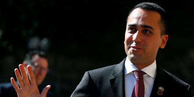Italian Deputy Prime Minister Luigi di Maio arrives at Villa Madama in Rome, Italy March 23, 2019. REUTERS/Yara