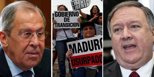 Il ministro degli Esteri russo Serghei Lavrov - manifestazioni in Venezuela - il segretario di Stato...
