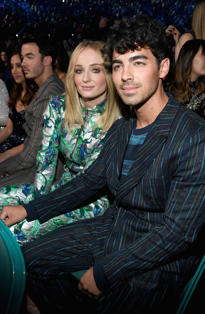 Sophie and Joe at the BBMAs hours before their wedding