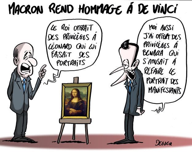 Macron a trouvé un point commun entre Léonard de Vinci et Alexandre