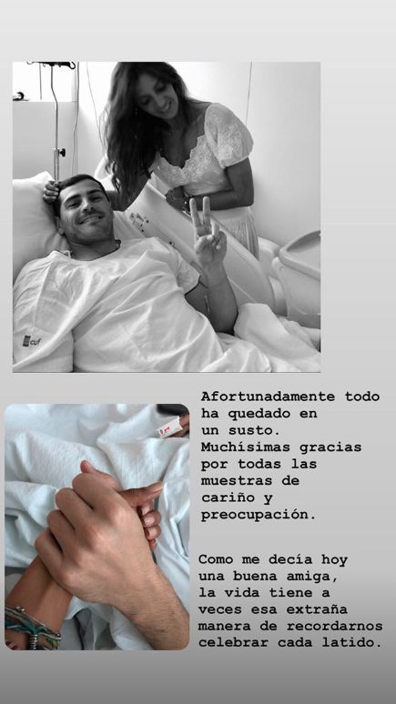 Casillas sorridente in ospedale: