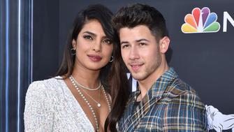 LAS VEGAS, NEVADA - MAY 01: Priyanka Chopra and Nick Jonas attend the 2019 Billboard Music Awards at MGM Grand Garden Arena on May 01, 2019 in Las Vegas, Nevada. (Photo by Axelle/Bauer-Griffin/FilmMagic)