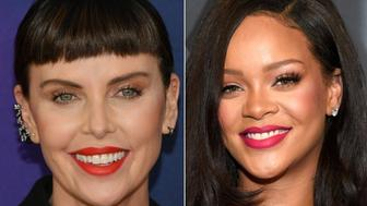 Charlize Theron and Rihanna