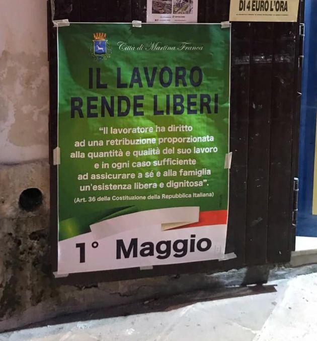 Il comune di Martina Franca festeggia il primo maggio con il motto