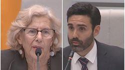 La reprimenda de Manuela Carmena a este concejal de C's durante un Pleno del