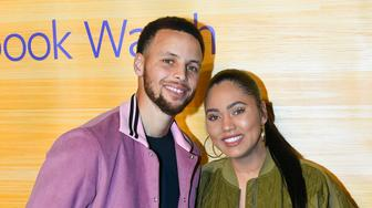 "OAKLAND, CA - APRIL 01:  (L-R) NBA Player Stephen Curry of the Golden State Warriors and Ayesha Curry attend the ""Stephen Vs The Game"" Facebook Watch Preview at 16th Street Station on April 1, 2019 in Oakland, California.  (Photo by Steve Jennings/Getty Images)"
