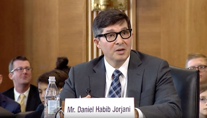 Daniel Jorjani appears before the Senate Energy and Natural Resources Committee for his confirmation hearing on May 2, 2019.