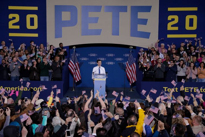 Pete Buttigieg announced his presidential bid on April 14, 2019 at a rally in South Bend, Indiana. He is currently the mayor there.