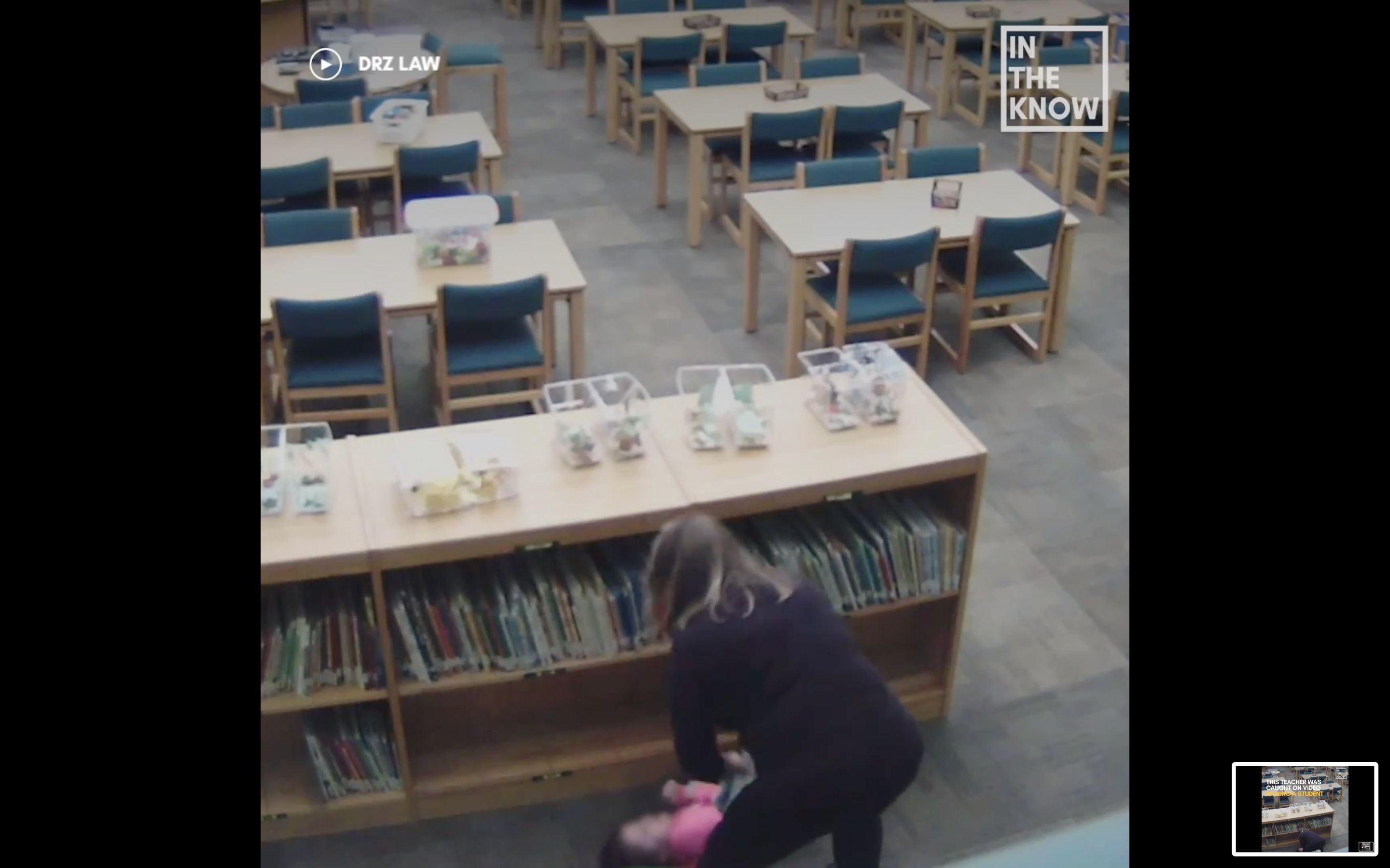 Teacher Crystal Smith was fired after the kick was caught by a surveillance camera.