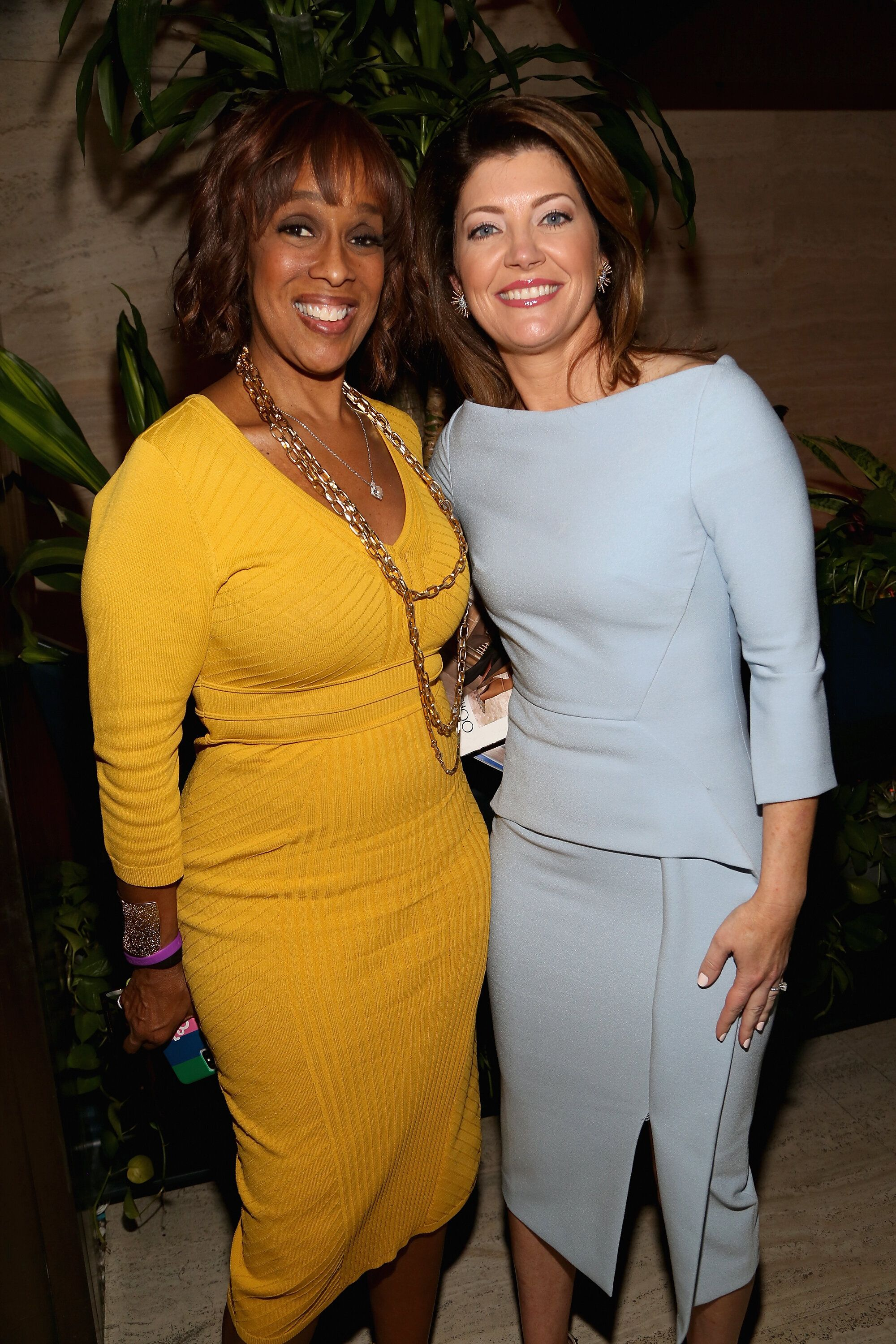 NEW YORK, NY - APRIL 12:  Gayle King and Norah O'Donnell attend The Hollywood Reporter's Most Powerful People In Media 2018 at The Pool on April 12, 2018 in New York City.  (Photo by Sylvain Gaboury/Patrick McMullan via Getty Images)