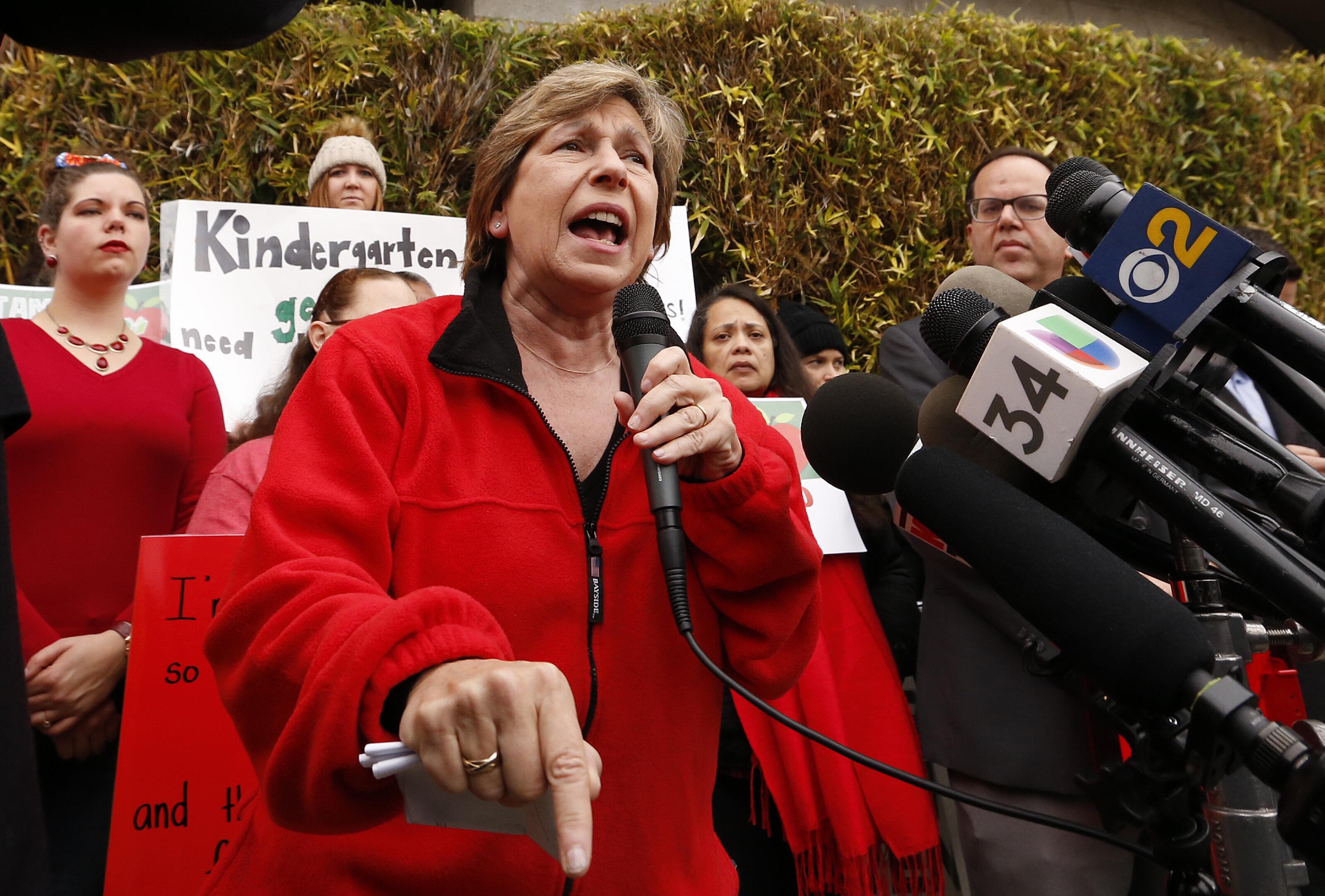 Randi Weingarten, an influential figure in Democratic politics, treads carefully in internecine party debates.