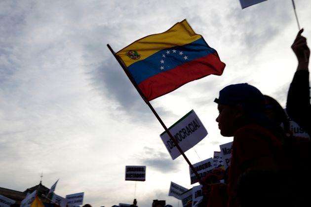 Manifestación de seguidores de Guaidó en