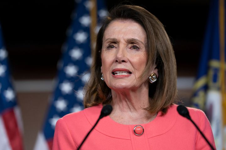 "Speaker of the House Nancy Pelosi (D-Calif.) says impeachment is ""too good"" for the president at a news conference Thursday o"