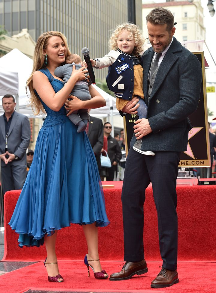 The whole family arrived to celebrate Reynolds as he received a star on the Hollywood Walk of Fame in 2016.