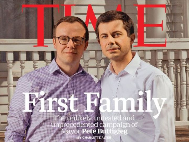 Buttigieg and his husband, Chasten Glezman, made the cover of TIME because of his historic bid for the presidency.