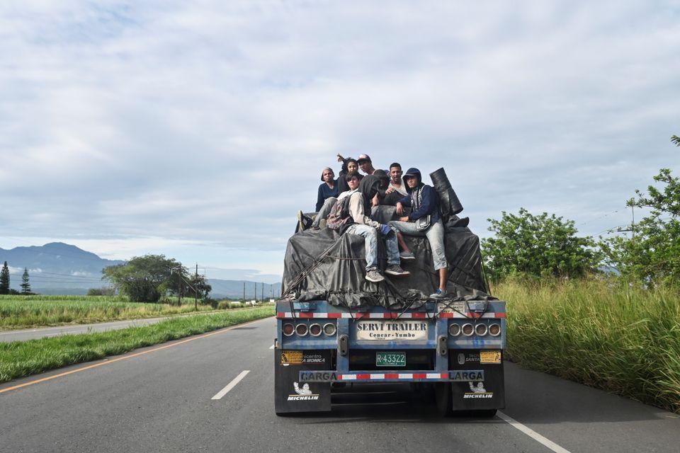 베네수엘라를 떠나 콜롬비아로 가는