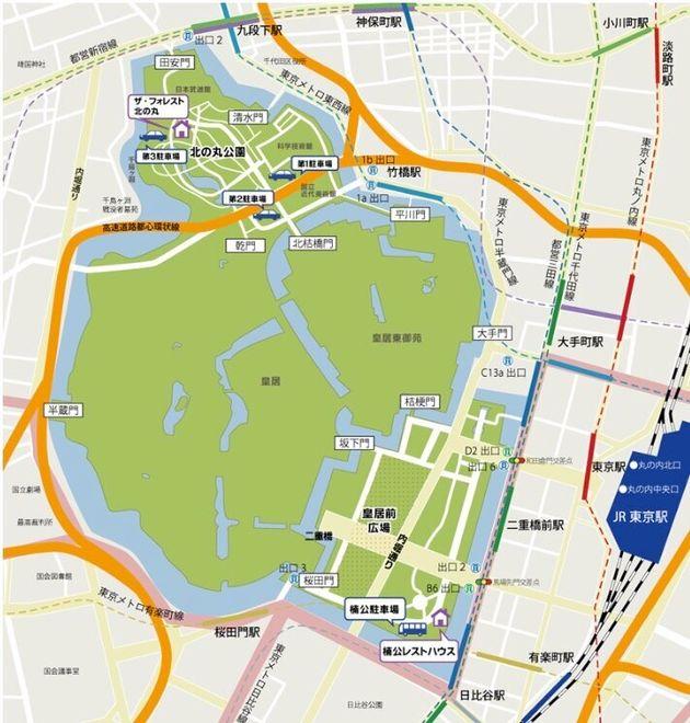 皇居周辺地図