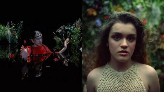 A la izquierda, fotograma de 'De aquí no sales'de Rosalía.A la derecha, uno...