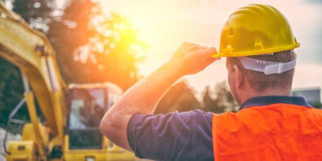 Earth Digger Driver at construction