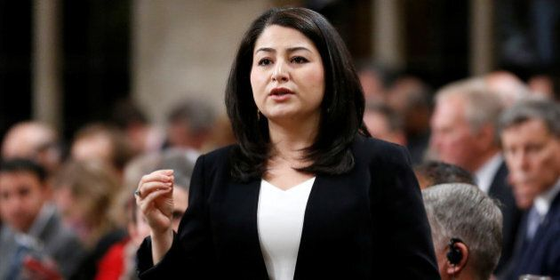 Canada's Democratic Institutions Minister Maryam Monsef speaks during Question Period in the House of...