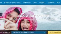 Chutes Niagara: un nouveau site en français, toujours plein de