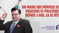 Les policiers de Montréal se moquent de Denis