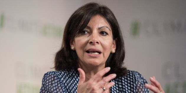 Paris mayor Anne Hidalgo participates in a discussion on 'Progress and Potential in the Months Since the Climate Summit for Local Leaders' at the Climate Action 2016 conference in Washington, DC, on May 5, 2016. / AFP / NICHOLAS KAMM (Photo credit should read NICHOLAS KAMM/AFP/Getty Images)