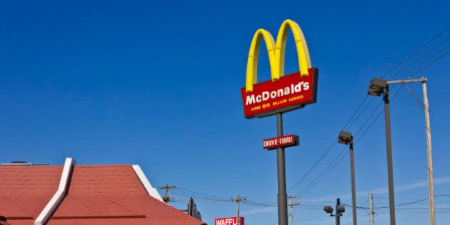 Indianapolis, U.S. - March 2, 2016: Indianapolis - McDonald's Restaurant Location. McDonald's is a Chain...