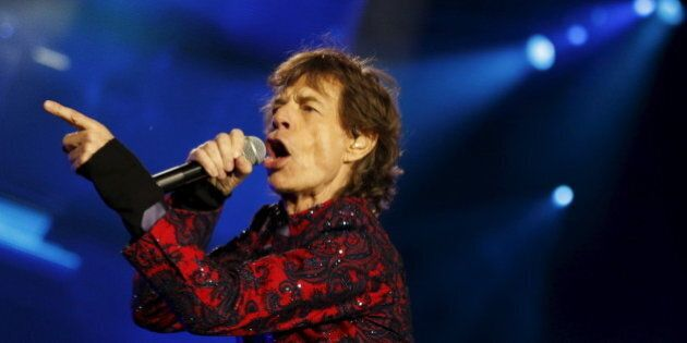 Mick Jagger of The Rolling Stones sings during