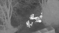 Un hélicoptère et l'escouade canine pour avoir volé... des