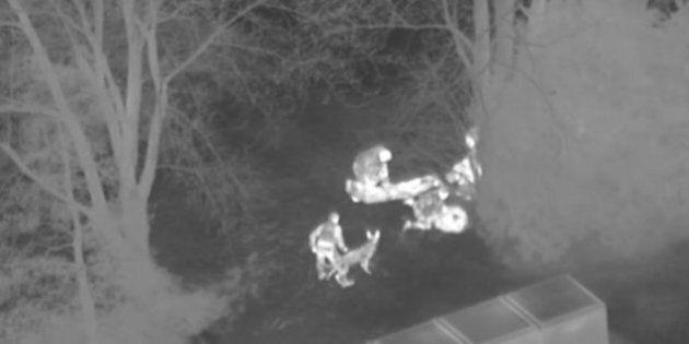 Un hélicoptère et l'escouade canine pour arrêter 3 jeunes qui avaient volé des