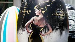 «L'art fait son nid» : d'hallucinants œufs géants au Quartier