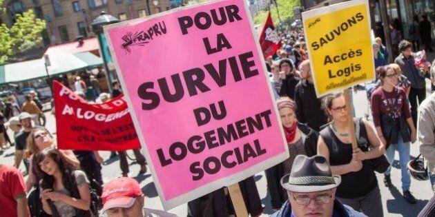 Logement social: le FRAPRU lance une semaine de manifs et