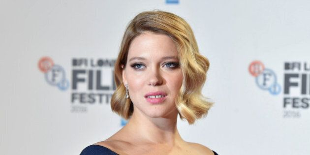 Léa Seydoux poses as she arrives for the gala screening of the