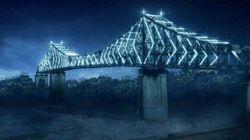 Revivez l'illumination du pont Jacques-Cartier à l'aide d'un