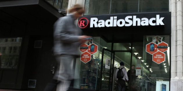 SAN FRANCISCO, CA - MARCH 04: A person walks by a Radio Shack store on March 4, 2014 in San Francisco,...