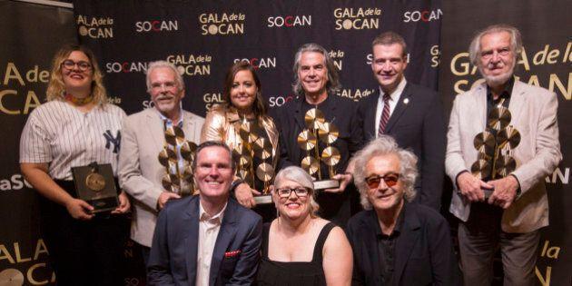 Gala de la SOCAN: et de 25 000 fois à la radio pour Éric Lapointe et Dédé