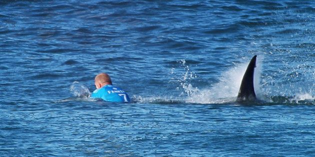 JEFFREYS BAY, EASTERN CAPE - JULY 19: In this screen grab from footage by the World Surf League, Mick...