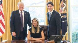 Cette photo d'Ivanka Trump dans le fauteuil du Bureau ovale fait