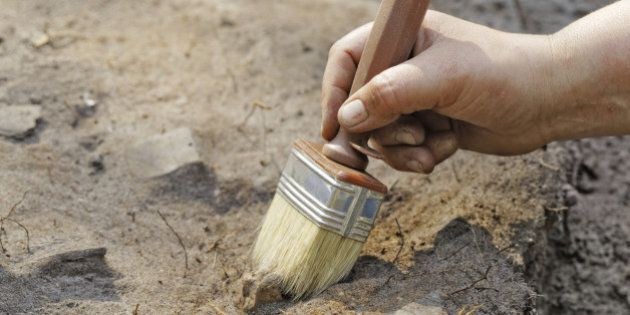 Archaeology: a thin layer stripping.One of the stages of
