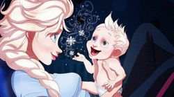 Les princesses Disney vivent leur maternité grâce à cette artiste
