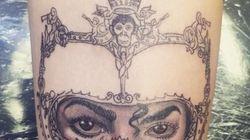 Le superbe tatouage de la fille de Michael